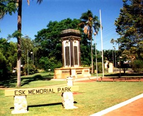 Esk War Memorial and Esk Memorial Park - Accommodation Daintree