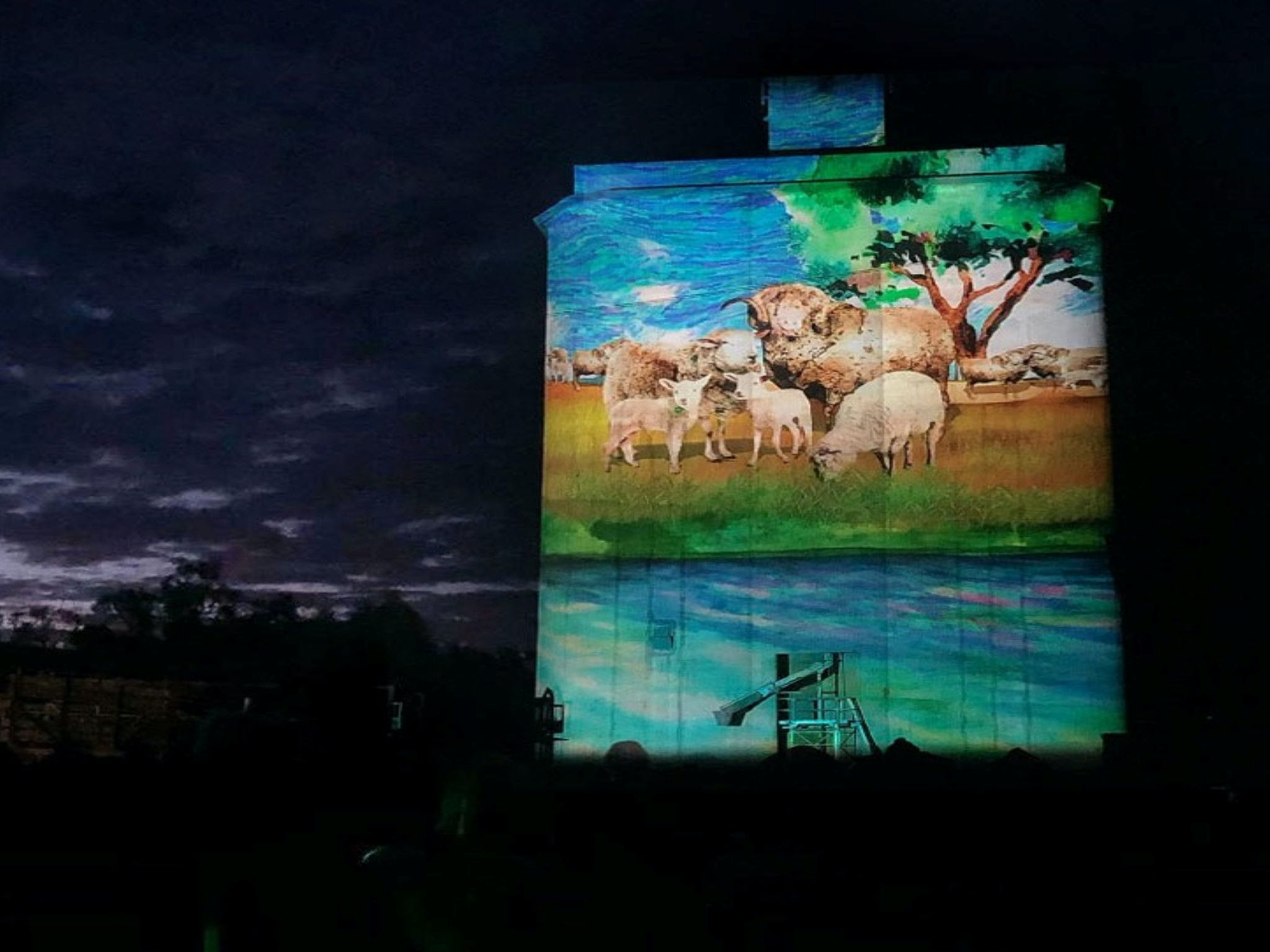 Quorn Silo Light Show - Accommodation Daintree