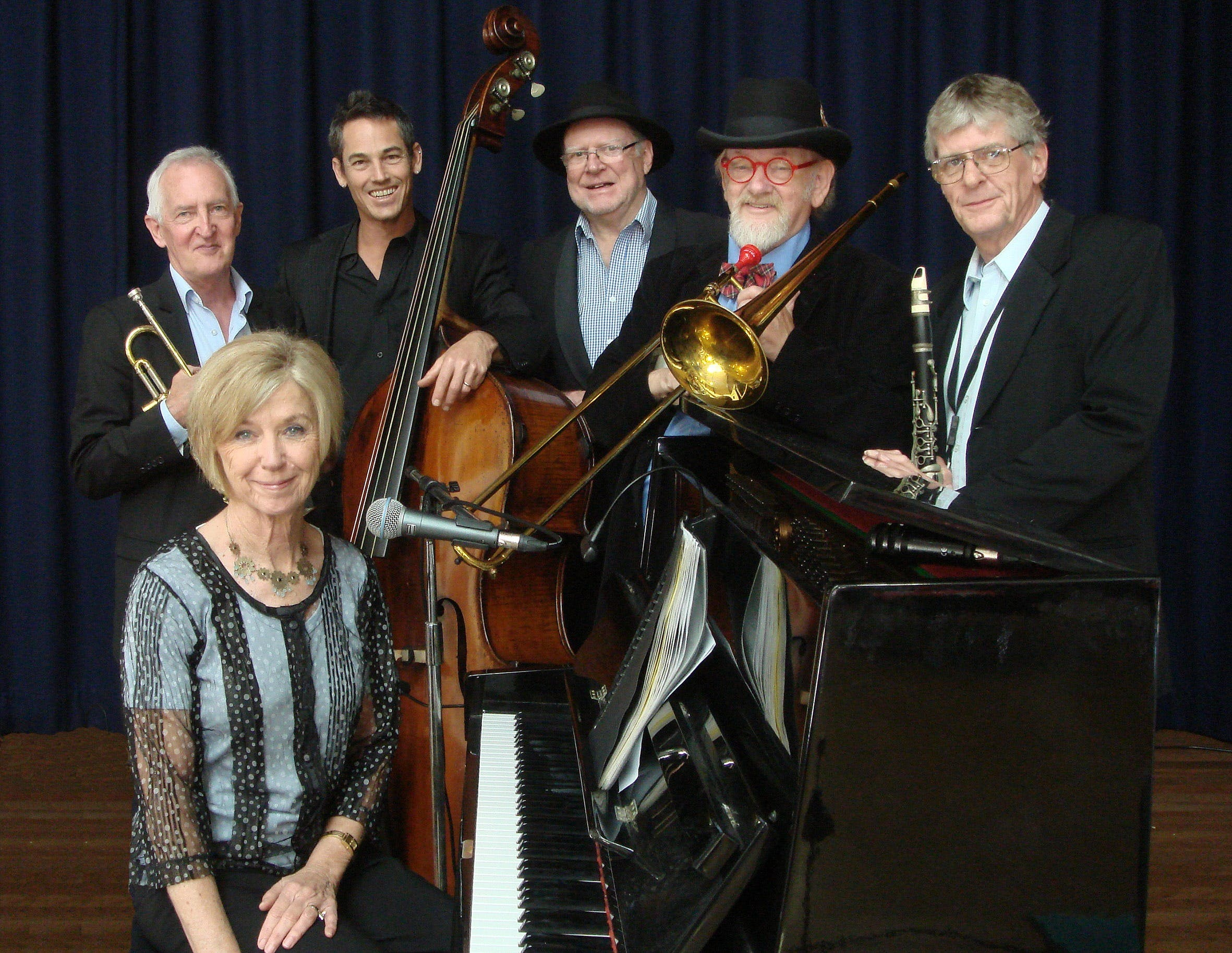 The Caxton Street Jazz Band in the Swigmore Hall at Robert Channon Wines - Accommodation Daintree