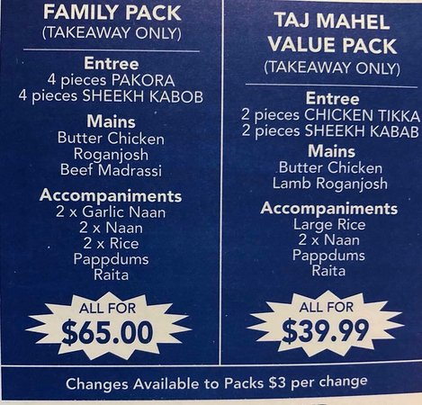 Taj Mahal Indian Restaurant - Accommodation Daintree